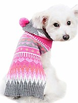 cheap -dog jumper knitwear pink cat puppy doggie winter sweater warm hooded outfit jacket soft dog snowsuit clothing pet cold weather clothes