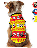 cheap -Dog Shirt / T-Shirt Stripes Animal Printed Animals Casual / Daily Dog Clothes Puppy Clothes Dog Outfits Breathable Yellow Blue Green Costume for Girl and Boy Dog Polyster S M L XL