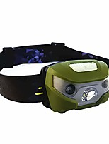 cheap -led headlamp super bright waterproof outdoor fishing sensor headlamp led light flashlight perfect for runners, lightweight, waterproof, adjustable headband green
