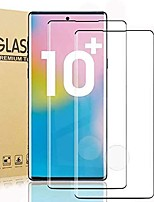 cheap -[2 pack] galaxy note 10 plus tempered glass screen protector [fingerprint sensor support] [no bubble] [full coverage] for samsung galaxy note 10 plus screen protector