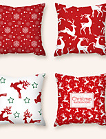 cheap -Cushion Cover 4PCS Christmas Party Decoration Christmas Gift Short Plush Soft Decorative Square Throw Pillow Cover Cushion Case Pillowcase for Sofa Bedroom 45 x 45 cm (18 x 18) Superior Quality