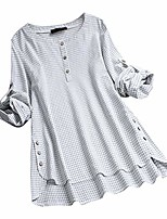 cheap -tops for women sexy elegant bodysuit blouse for women loose print button blouse pullover tops shirt white