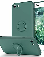 cheap -iphone se 2020 case iphone 8 case iphone 7 case slim silicone soft gel rubber microfiber lining cushion protective cover with 360° ring holder kickstand (support car mount), midnight green
