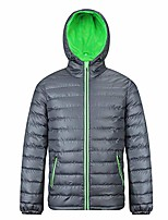 cheap -men's hooded puffer jacket winter insulated outerwear coat grey-black l
