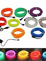 cheap -el wire neon lights kit with usb port fits halloween christmas party room car diy decoration 5m/16.4ft colorful lighting 9pcs