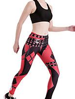 cheap -Women's Sporty Comfort Gym Yoga Leggings Pants Plaid Checkered Ankle-Length Print Red