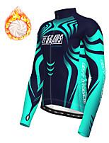 cheap -21Grams Men's Long Sleeve Cycling Jacket Winter Fleece Polyester Blue Bike Jacket Top Mountain Bike MTB Road Bike Cycling Thermal Warm Fleece Lining Breathable Sports Clothing Apparel / Stretchy