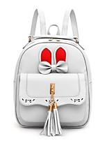 cheap -Women's PU Mini Backpack Large Capacity Zipper Solid Color Daily Black Blushing Pink Beige Gray