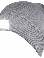 cheap -4 led light beanie cap/hat, perfect hands free flashlight for hunting, camping, grilling, on/off switch hidden in the cap (z-gray)