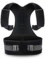 cheap -posture corrector for women and men karmarebirth back brace with fully adjustable straps shoulder cushion improves posture provides lumbar support relieve lower and upper back pain(l)