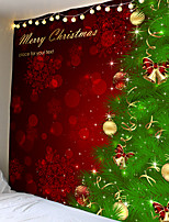 cheap -Christmas Day Party Wall Tapestry Art Deco Blanket Curtain Picnic Table Cloth Hanging Home Bedroom Living Room Dormitory Decoration Christmas Tree Ball