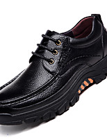 cheap -Men's Oxfords Daily Walking Shoes Cowhide Wear Proof Black Brown Spring Fall