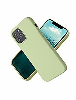 cheap -ilee liquid silicone phone case compatible with iphone 12 6.1 inch, gel rubber full body protection shockproof cover case drop protection rubber case design for iphone 12 pro case 2020(matcha green)