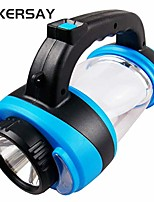 cheap -outdoor portable rechargeable camping lantern light led camp tent fishing light handheld lamp hiking hand lamp (blue)