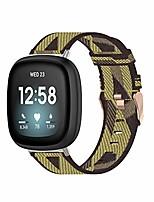 cheap -tencloud strap compatible with fitbit versa 3 & sense strap, lightweight stripe nylon fabric woven bands replacement bracelet wristband band for fitbit sense/versa 3 smart watch (yellow)