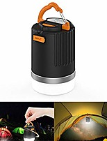 cheap -portable outdoor camping lantern multifunction usb rechargeable led light black