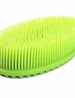 cheap -silicone body brush, silicone loofah body brush back scrubber bath sponge scrubber brush for spa wet and dry brushing shower bath scrubber for gym massaging travel baby kids women family