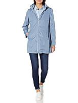 cheap -women's a-line lightweight packable rain jacket, faded denim, x-small