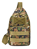 cheap -15 L Hiking Sling Backpack Rain Waterproof Wearable Outdoor Climbing Running Oxford Black Army Green Camouflage