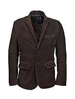 cheap -mens real leather blazer italian tailored 100% suede single breasted gents coat 3450 (l, brown)