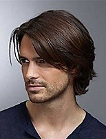 cheap -men short brown wig curly hair replacement synthetic costume halloween cosplay full wigs