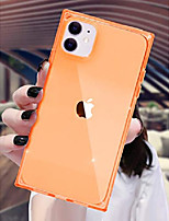 cheap -square iphone 11 case 2019 transparent deisgn,anti-scratch 4 reinforced corners cushion phone cover cases soft protective tpu ultra thin slim for apple iphone 11 6.1 inches (clear/orange)