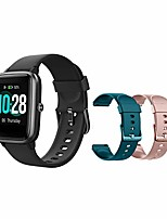 "cheap -smart watch fitness tracker [with 2 extra straps], heart rate monitor, activity tracker with 1.3"" touch screen, ip68 waterproof pedometer with sleep monitor, step counter for women men (black)"