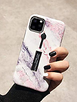 cheap -for iphone 11 pro max marble case with ring grip holder kickstand finger circle strap loop case cover cute marble stone design ultra thin smooth shockproof anti-scratch case for iphone 11 pro max