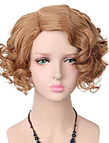 cheap -yuehong white wig short curly wigs synthetic cosplay wig halloween costume