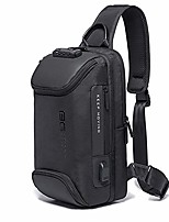 cheap -sling bag anti theft shoulder crossbody sling backpack with usb charging port waterproof travel hiking chest daypack (black)