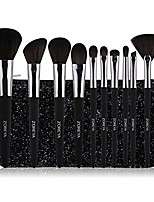 cheap -classic makeup brushes, professional goat hair foundation face powder blush set concealers eyeshadow kit with sequin bag,black
