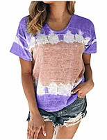 cheap -tops for women work casual scoop collar plus size t shirts summer short sleeve tee shirts purple