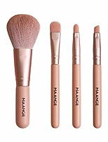 cheap -mini makeup brush set with 4 pcs micro crystal hair blush eye face shadow brushes (gold)
