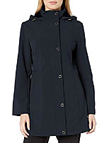 cheap -women's soft shell anorak with hood, navy, small