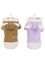 cheap -Dog Coat Jacket Rabbit / Bunny Elegant Cute Casual / Daily Winter Dog Clothes Puppy Clothes Dog Outfits Breathable Purple Brown Costume for Girl and Boy Dog Fleece S M L XL XXL