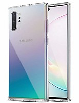 cheap -galaxy note 10 plus case, anti-scratch shockproof series clear hard pc + tpu bumper protective cover case for samsung galaxy note 10 plus/note 10 plus 5g - crystal clear