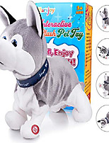 "cheap -husky robot toy dog electronic dog toy, plush stuffed animal dog toy , interactive puppy plush animated dog, robot dog toy for kids toddlers boys girls length 12"""