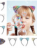 cheap -1pcs Kids / Toddler Girls' Active / Sweet Solid Colored Hair Accessories White / Blue / Blushing Pink