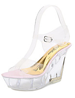cheap -Women's Dance Shoes Pole Dancing Shoes Heel Buckle Slim High Heel Almond Blue Pink Buckle Adults'
