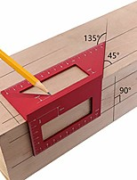 cheap -aluminum alloy woodworking scriber t ruler multifunctional 45/90 degree angle ruler (b)