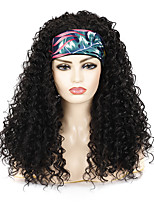 cheap -Hairband Wig Headgear Black Long Curly Hair Deep Volume Chemical Fiber Wig Headgear With Hairband Wig Fashion Hairband