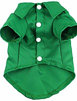 cheap -dog shirts green cotton polo t-shirt cute breathable solid pet clothes soft casual thanksgiving christmas halloween costumes for small medium large puppy (s)