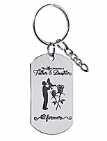 cheap -gifts for dad from daughter keychain the love between a father&daughter is forever key chain