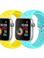 cheap -compatible with apple watch band 42mm 44mm, soft silicone replacement strap compatible for iwatch series 6, 5, 4, 3, 2, 1 for women and men (shiny yellow & sky blue, 42mm/44mm)