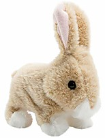 cheap -plush rabbit easter electronic interactive toy jumping,wiggle ears,mouth moving bunny toy 7 inches tan gifts for kids