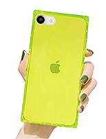 cheap -compatible with iphone se2 se 2020 for iphone 8 iphone 7,slim cute girl women crystal clear design flexible anti drop protection shockproof soft bumper cushion square cover case, pale green