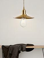 cheap -22cm LED Pendant Light Modern Nordic Bedside Light Gold Bowl Downlight Luxury Copper Dining Room Bar Christmas Decoration 110-120V 220-240V