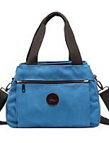 cheap -Women's Bags Canvas Top Handle Bag Zipper 2021 Daily Outdoor Black Blue Blushing Pink Khaki