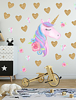 cheap -Animals / Christmas Decorations Wall Stickers Plane Wall Stickers / Holiday Wall Stickers Decorative Wall Stickers, PVC Home Decoration Wall Decal Wall / Window Decoration 1pc