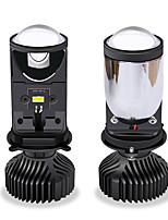 cheap -2Pcs Canbus H4 Mini Projector H4 LED Headlight 8000LM Turbo Led Lampada Motorcycle Car Lights Bulb High/Low Beam light